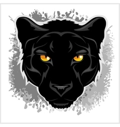 Black Panther head - on grunge background vector image vector image