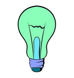 light bulb icon cartoon vector image vector image