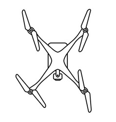 quad copter drone from top vector image vector image