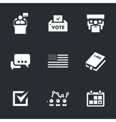 Set of Voting and elections vector image