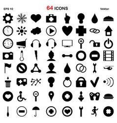 64 season icon collection vector