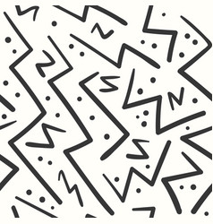 Abstract black on white zig zag seamless pattern vector