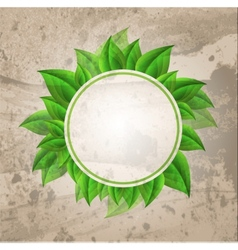 Abstract nature green background vector