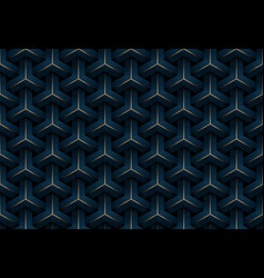 abstract seamless luxury dark blue and gold vector image