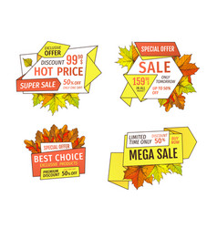 advertisement promo discount on thanksgiving day vector image