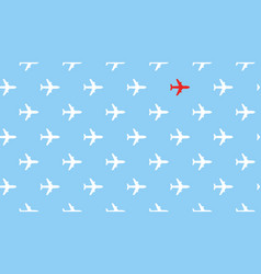 airplanes group fly in one direction and only one vector image