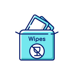 Alcohol free wipes rgb color icon vector