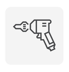 auger drilling icon vector image