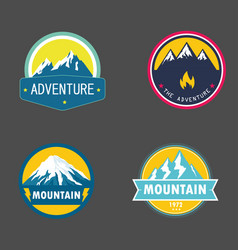 badges adventure mountain vector image