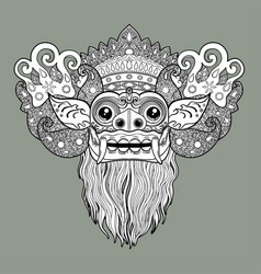 Barong traditional ritual balinese mask vector