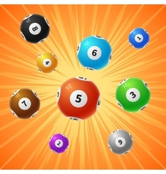 Bingo lottery balls 3d gambling background vector