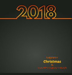 black happy new year 2018 background vector image