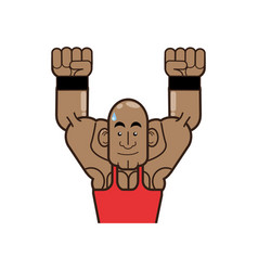 Body building and gym cartoon vector