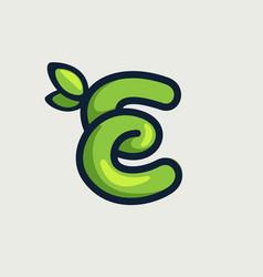 Bold twisted eco-friendly letter e logo vector