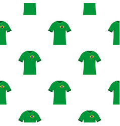 brazilian soccer shirt pattern seamless vector image