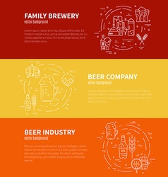 Brewery flyers vector