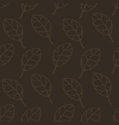 Brown leaf seamless pattern pr vector image
