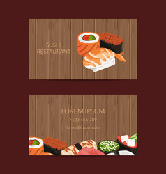 Business card templates in cartoon style vector