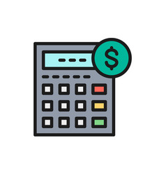 Calculator bookkeeping accounting vector