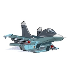 Cartoon Military Airplane vector image
