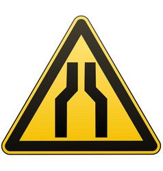 Caution - danger carefully narrow passage vector