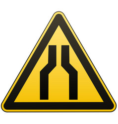 caution - danger carefully narrow the passage vector image