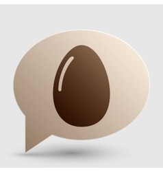 Chiken egg sign Brown gradient icon on bubble vector