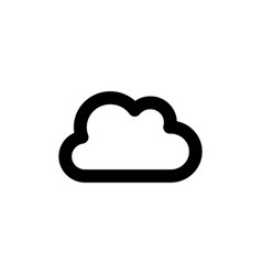 cloud weather line web or mobile interface vector image