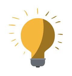 Colorful silhouette of light bulb idea icon with vector