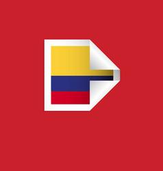 Columbia label flags template design vector