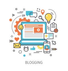 concept blogging vector image