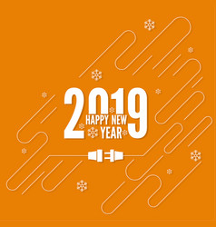 connecting to the new year vector image