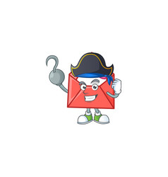 Cool one hand pirate love letter cartoon character vector