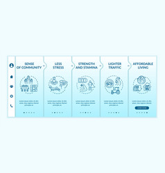 Country life benefit onboarding template vector