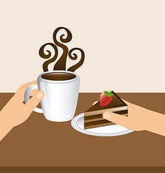 Delicious chocolate vector