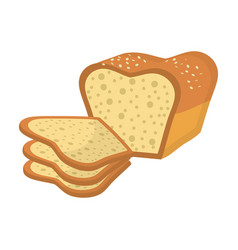 Delicious fresh bakery slice bread and loaf vector