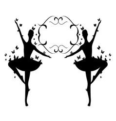Design element flourishes butterflies vintage 2 vector