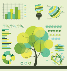 eco infographics template set graphic design vector image