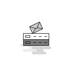email web icon flat line filled gray icon vector image