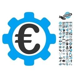 Euro Options Flat Icon With Bonus vector image