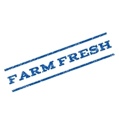 Farm Fresh Watermark Stamp vector