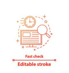 Fast check concept icon vector