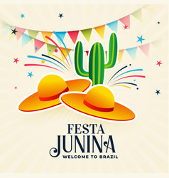 Festa junina decorative background design vector