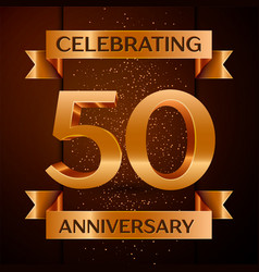 fifty years anniversary celebration design banner vector image