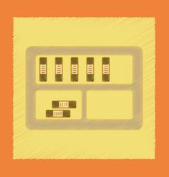 flat shading style icon folder shelf vector image