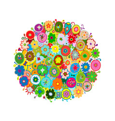 floral frame for your design vector image