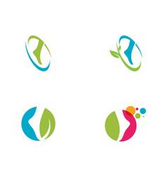 foot logo template icon vector image