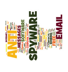 Free anti spyware text background word cloud vector