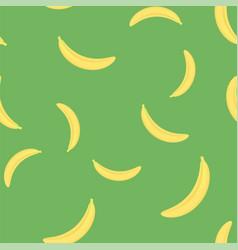 Fresh yellow bananes seamless pattern vector