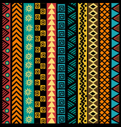 geometrical ethnic motifs background vector image